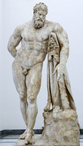 The Farnese Hercules, римская копия с оригинала Лисиппа