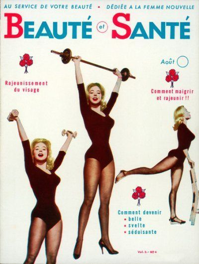 BEAUTE SANTE — Betty Weider — Aout 1960