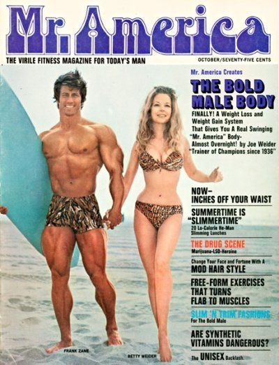 MR. AMERICA — Frank Zane — Betty Weider-October 1970