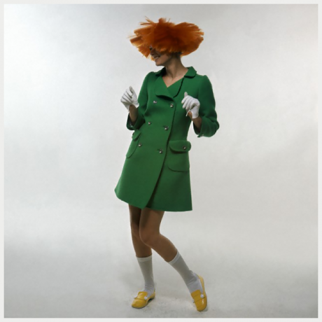 André Courrèges, Coat and Shoes, photographed by Bert Stern, 1969