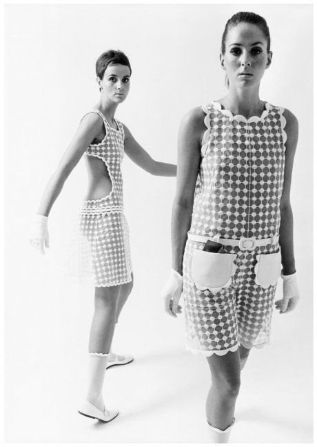 André Courrèges, Dresses, photographed by F.C. Gundlach, 1965