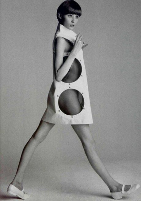André Courrèges, Dress, photographed by William Laxton, 1960s